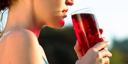 Taking detox drinks